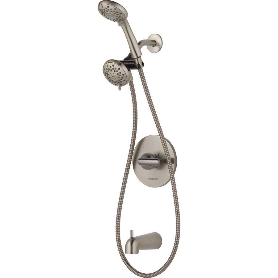 Peerless Dulcet Brushed Nickel 1 Handle Bathtub And Shower Faucet With Valve