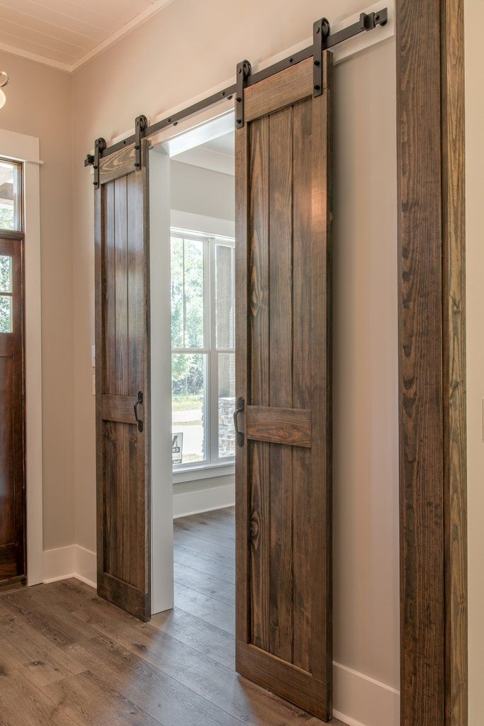 This contemporary craftsman home offers three bedrooms with a private master suite including a spa-like bath and generous master closet. #rustichouse
