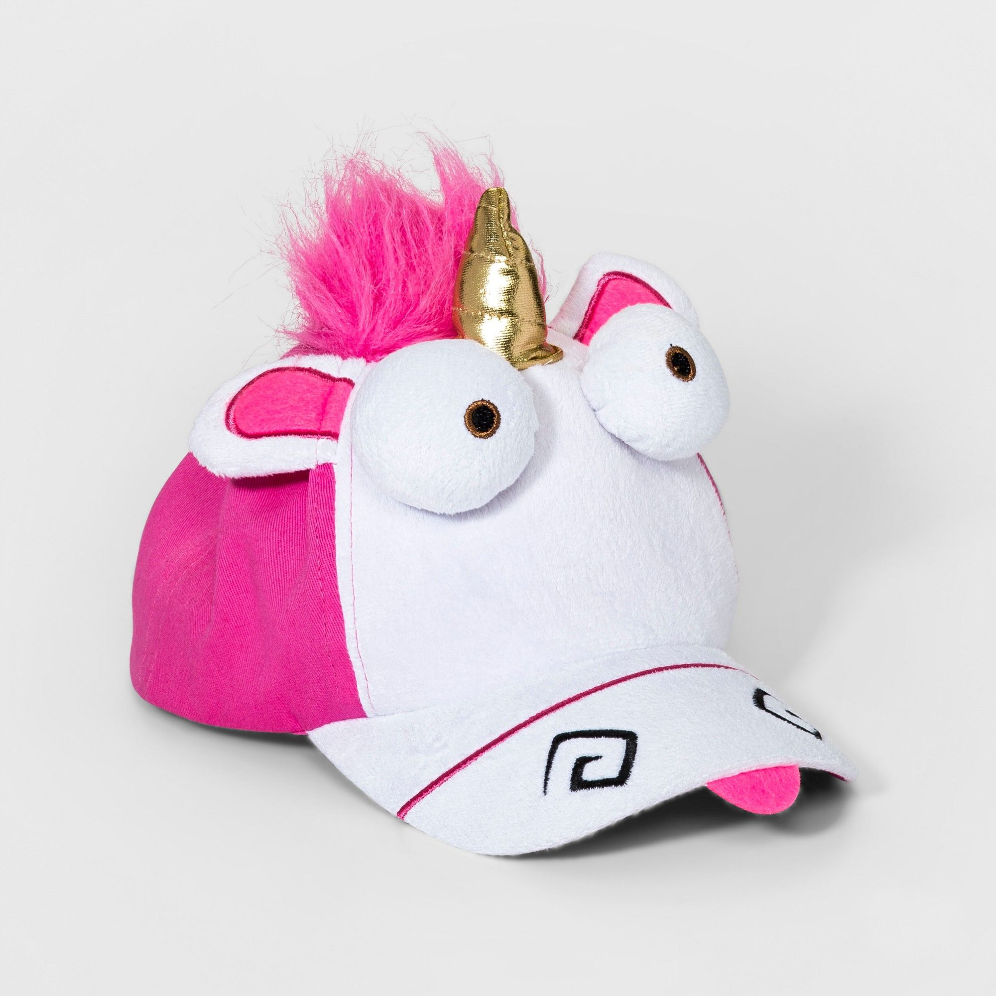 f88a23ee746 Girls  Despicable Me Fluffy Unicorn Hat - White