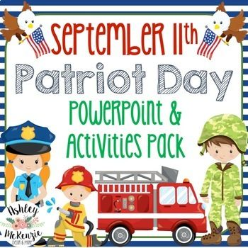 September 11 Patriot Day Power Point Lesson Activities Pack