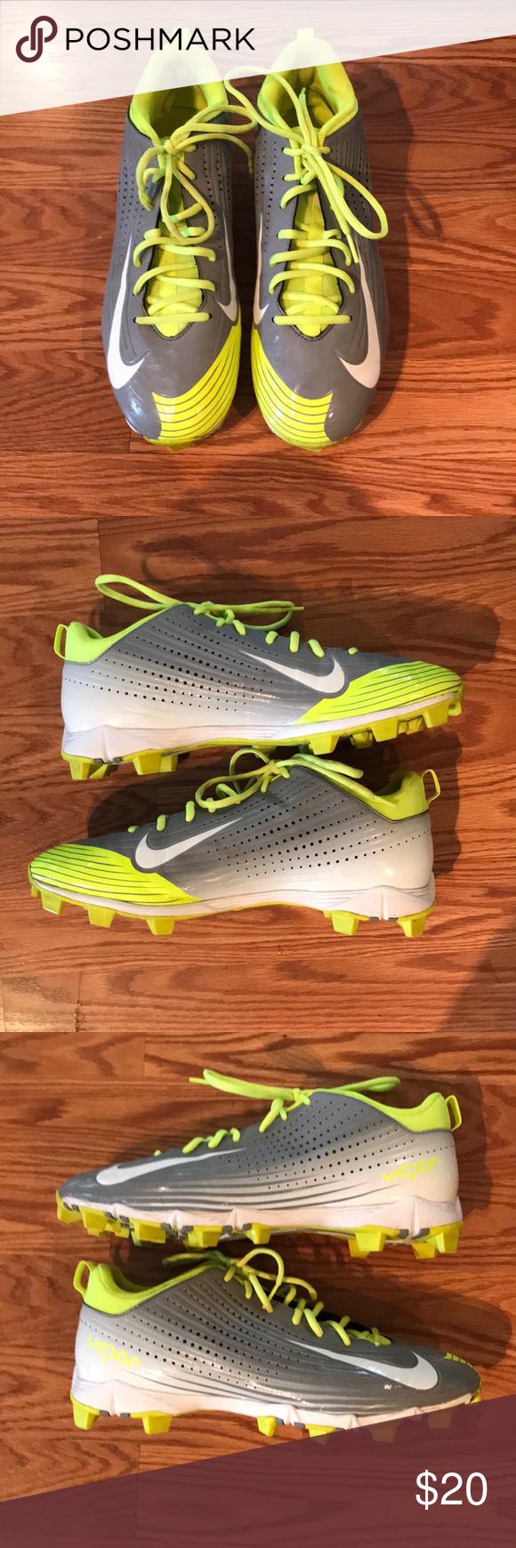 Nike men, Baseball cleats, Neon yellow