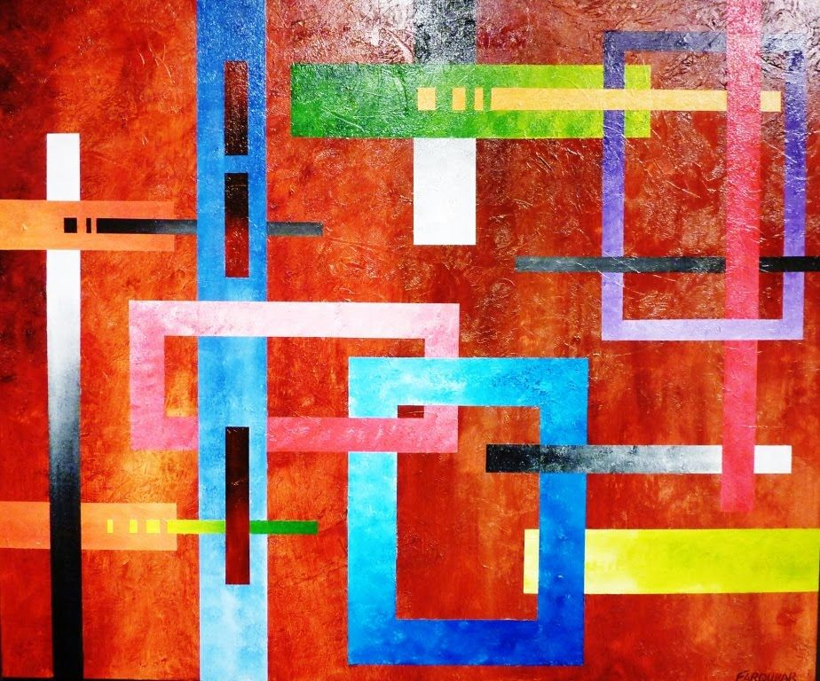 Geometric Abstract Art Lesson Preview How To Paint Large