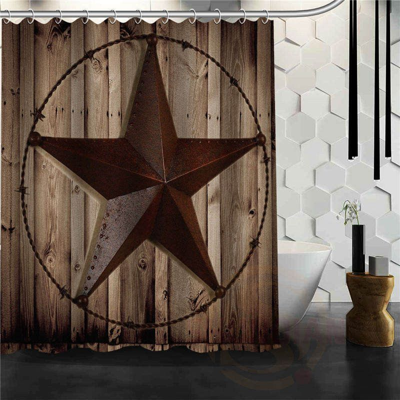 Western Texas Lone Star Cowboy Shower Curtain Country Western
