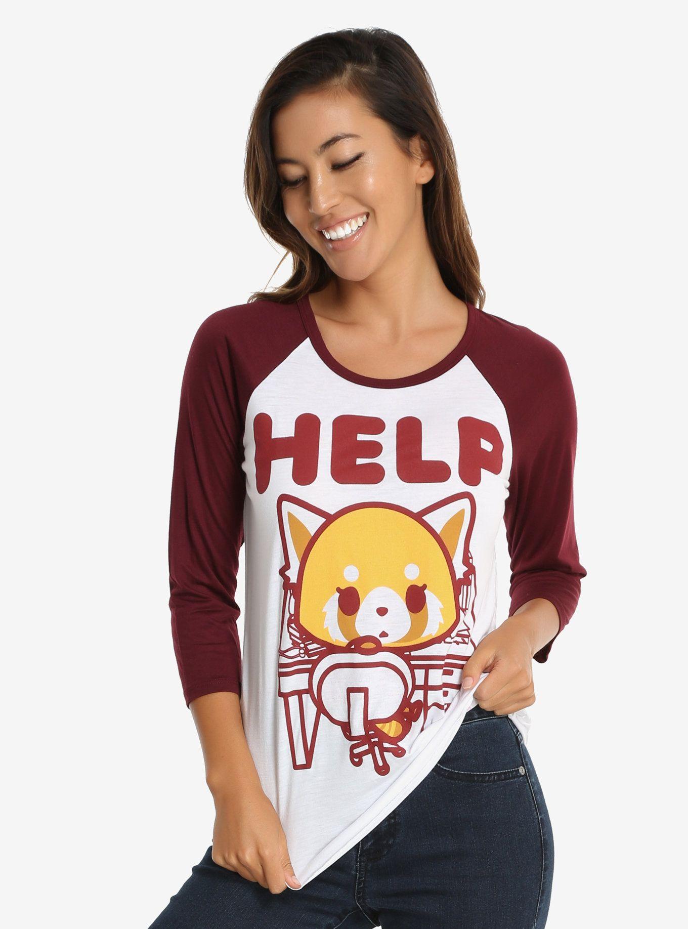 Aggretsuko may i help you womens tee panda metals and 50th for T shirt help desk