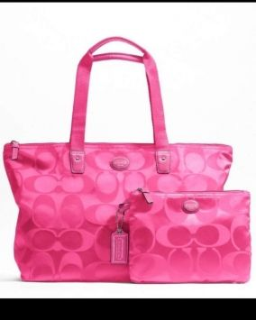 92265f076f19 Coach Signature Weekender Tote Hot Pink Travel Bag  71 Check it out on  Tradesy