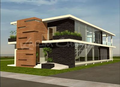 Decoracion de fachadas de casas edificios y otras for Casas pintadas por dentro