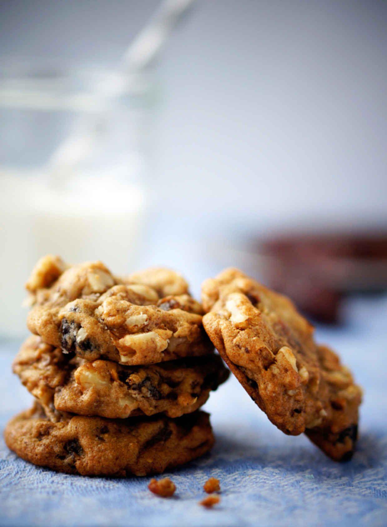 Spiced Hermit Cookies Raisin Cookies Hermit Cookies Cookie Recipes