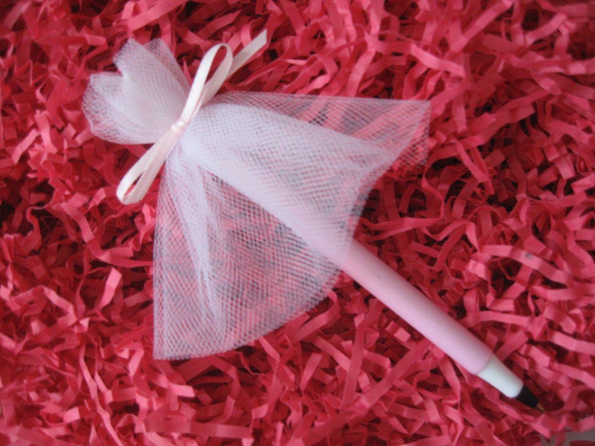 wedding dress pen perfect wedding shower favor set of 10 2000 via etsy