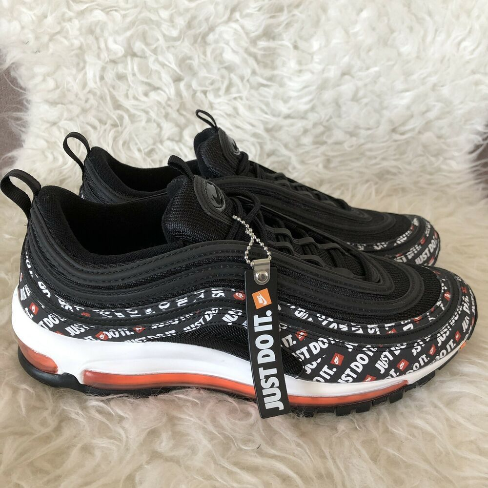 Ebay Sponsored Nike Air Max 97 Just Do It Pack Black Mens Size 10 New Nike Air Max 97 Nike Air Max Nike Fashion