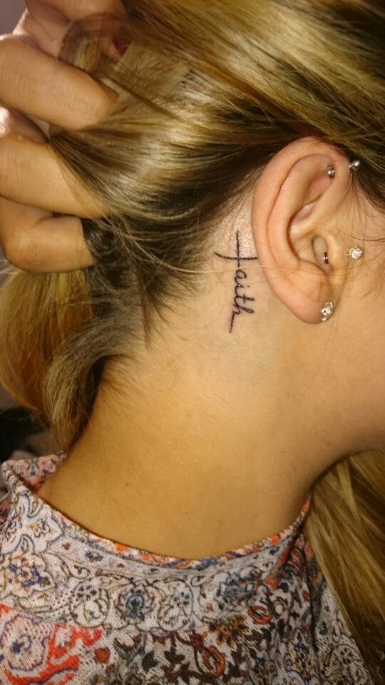 7ce4bbd6d51a6 Small tattoo behind the ear … | tatoos | Cool …