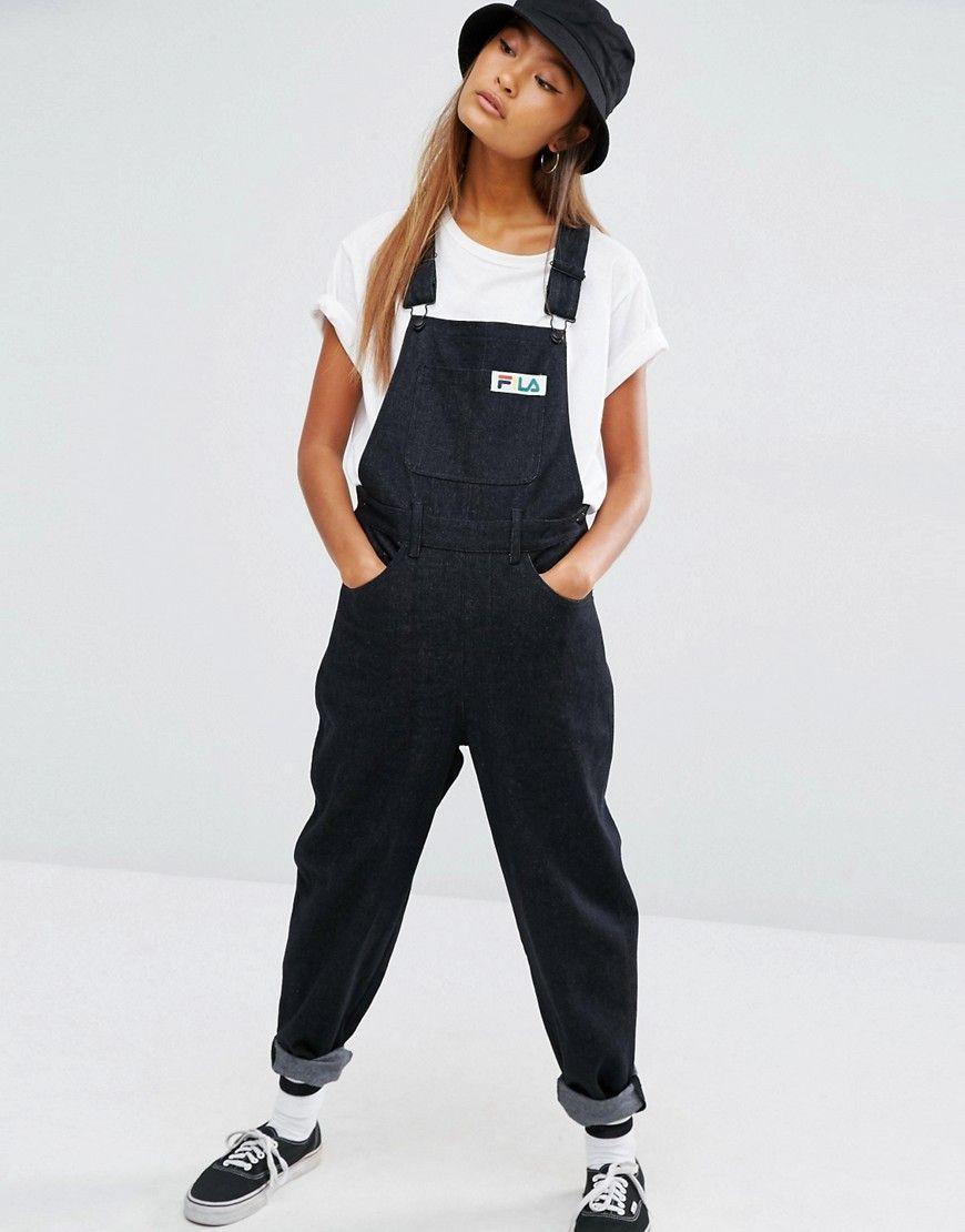 b3083e222822 Bild 1 von Fila – Jeans-Latzhose mit aufgesetzter Tasche und Logo-Detail