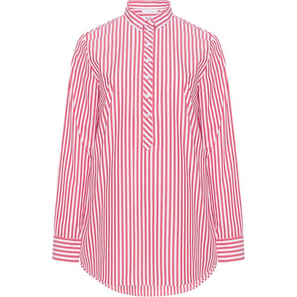 c79727e8a053f Eterna Red   White Plus Size Striped shirt ( 61) ❤ liked on Polyvore  featuring