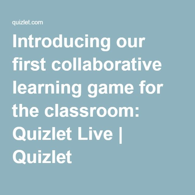 Introducing our first collaborative learning game for the ...