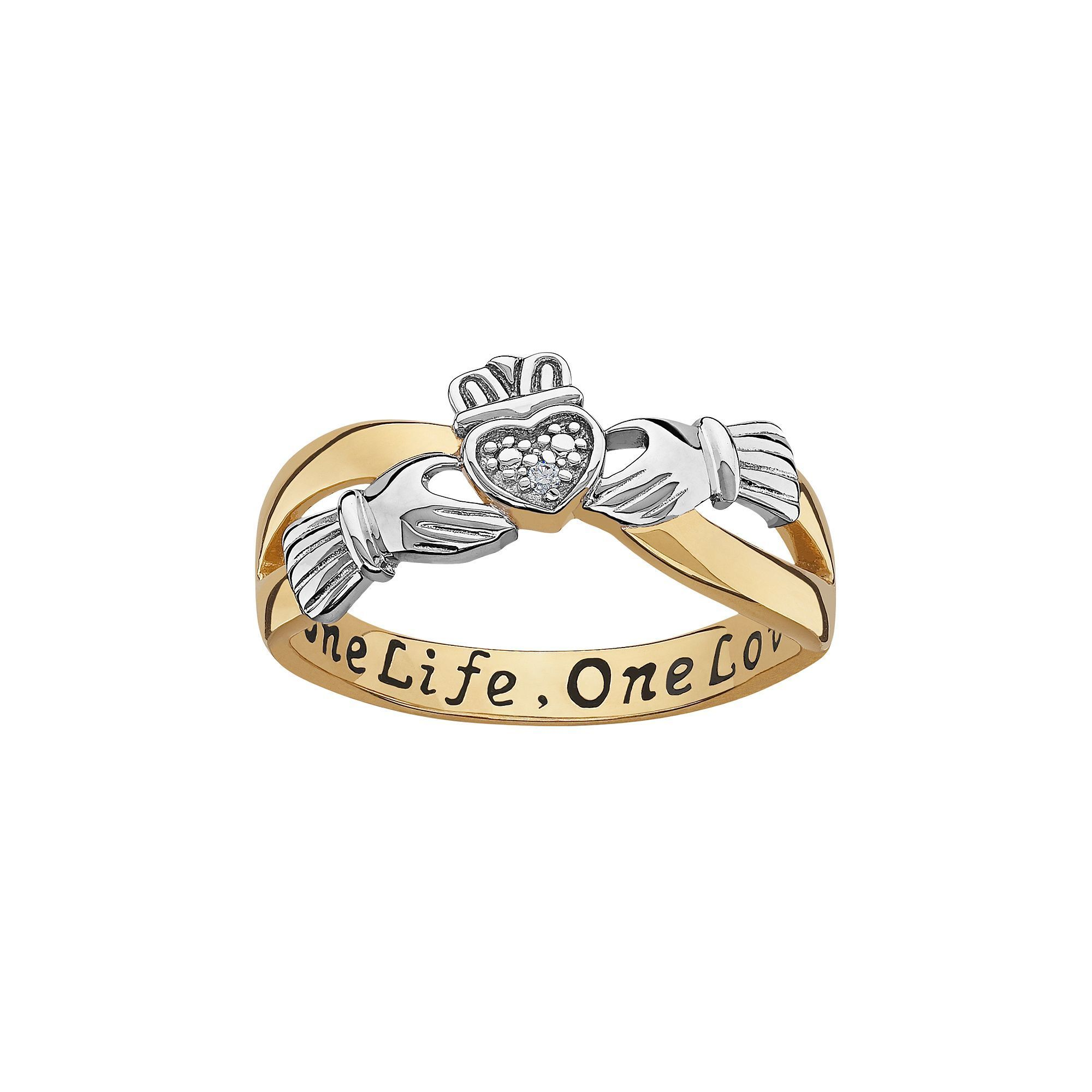 Fine Jewelry Womens Diamond Accent White Diamond 14K Gold Over Silver Band hZm1AhXsoo