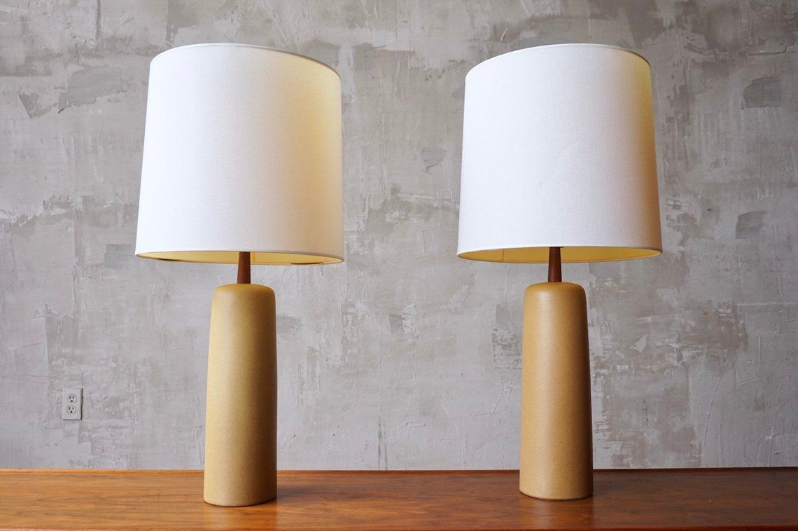 Pair Of Jane Gordon Martz Ceramic Lamps Etsy