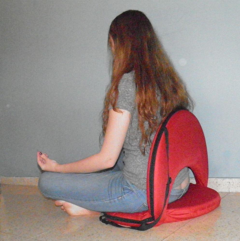 Folding cushion chair sturdy low - Chair Fold Yoga Meditation Vipassana Floor Bleacher Lower Back Zaisu Tatami