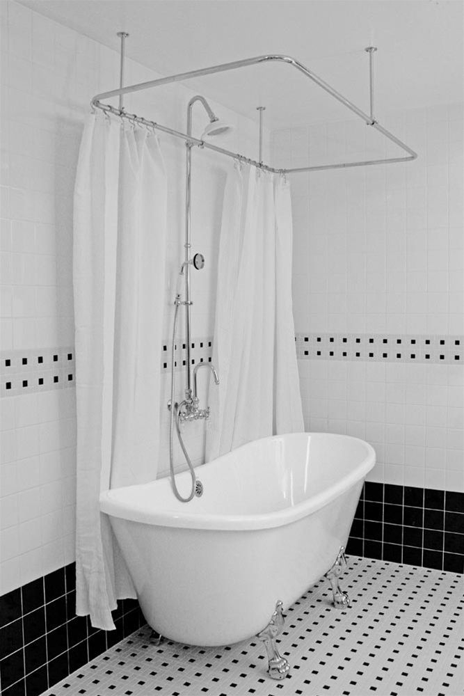 Image result for freestanding modern clawfoot tub / shower 54\