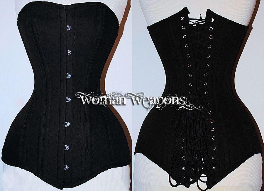 81fee5c3f Maravilloso corset de algodón negro