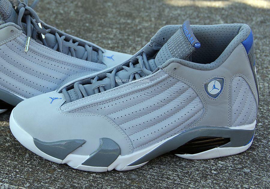 Air Jordan 14 - Grey - Sport Blue - White