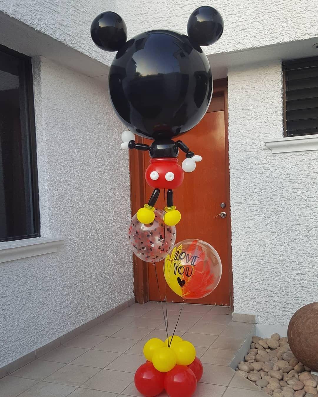 Buddie Mickey Decoracion Con Globos Ideas Para Tu Diseno En