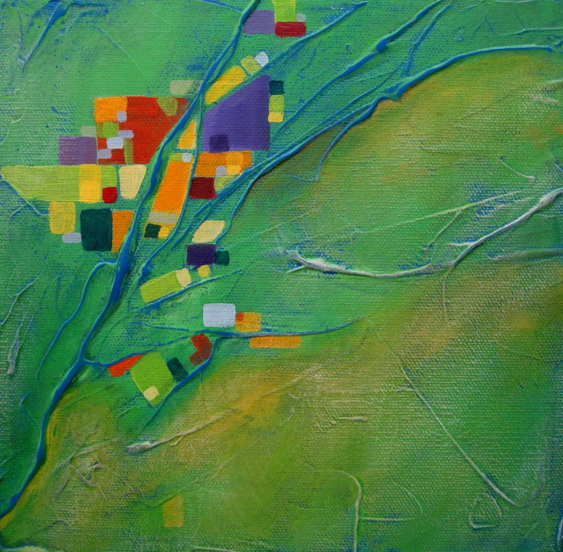 Aerial view of earth abstract painting Mosaic 6. $65.00, via Etsy ...