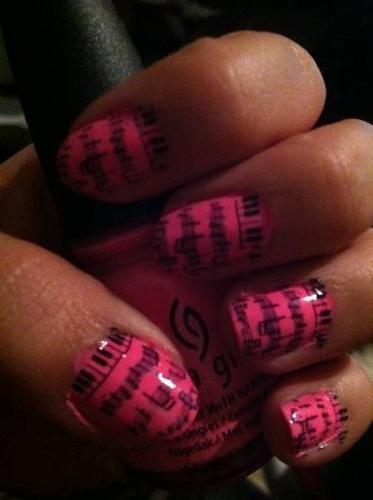 music note nail art - cuteness!