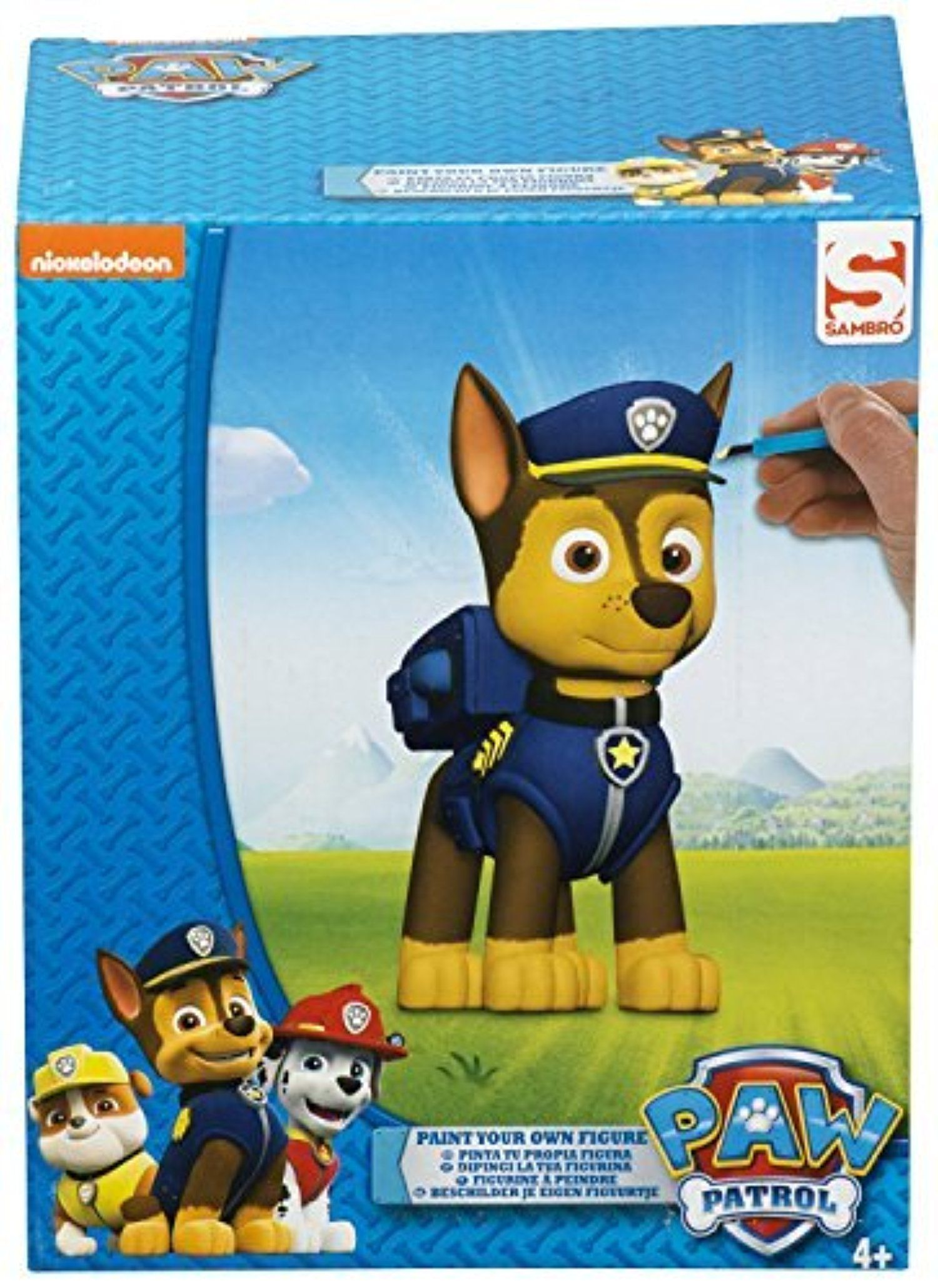 Paw Patrol Paint Your Own Figure Art Painting Craft Chase Brush 5 Paints Gift By Bargains Galore Awesome Products Painting Gift Painting Crafts Art Painting
