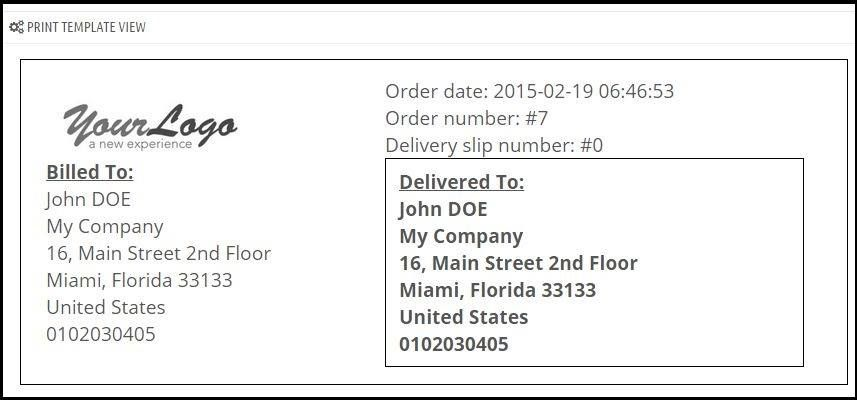 How to print shipping #labels on packages easily in #PrestaShop - shipping slip template