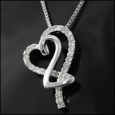 Captivating Heart Diamonds Necklace #MothersDay#NewMom#Mom