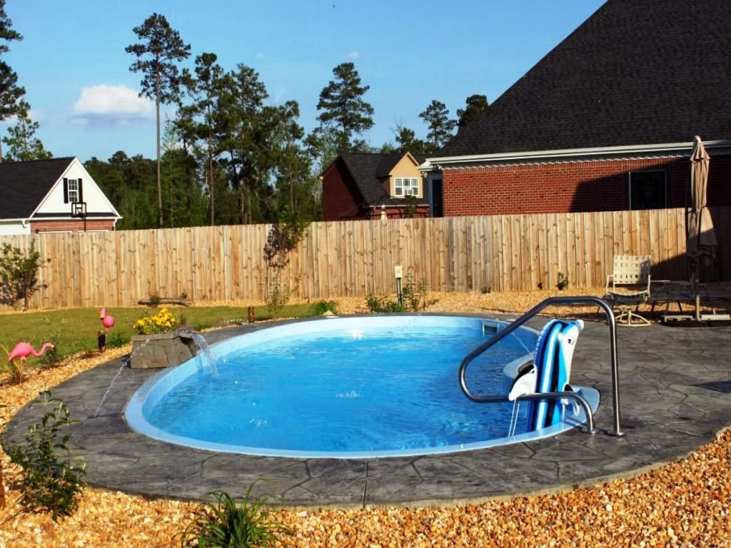 Small inground fiberglass pool kits house outdoor pool for In ground pool plans