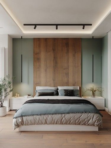 La madera y la naturaleza inspiran a crear dormitorios cálidos y elegantes