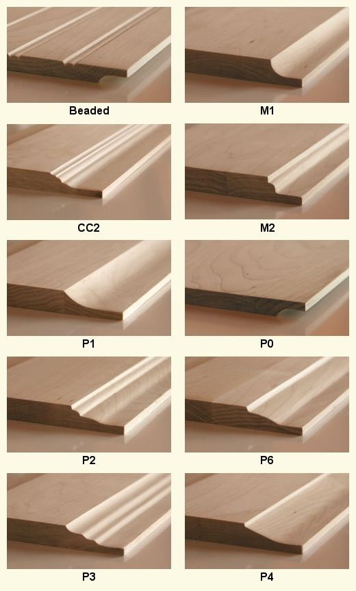 wood door panel profiles @ Cabinet Doors Depot | Wood ...