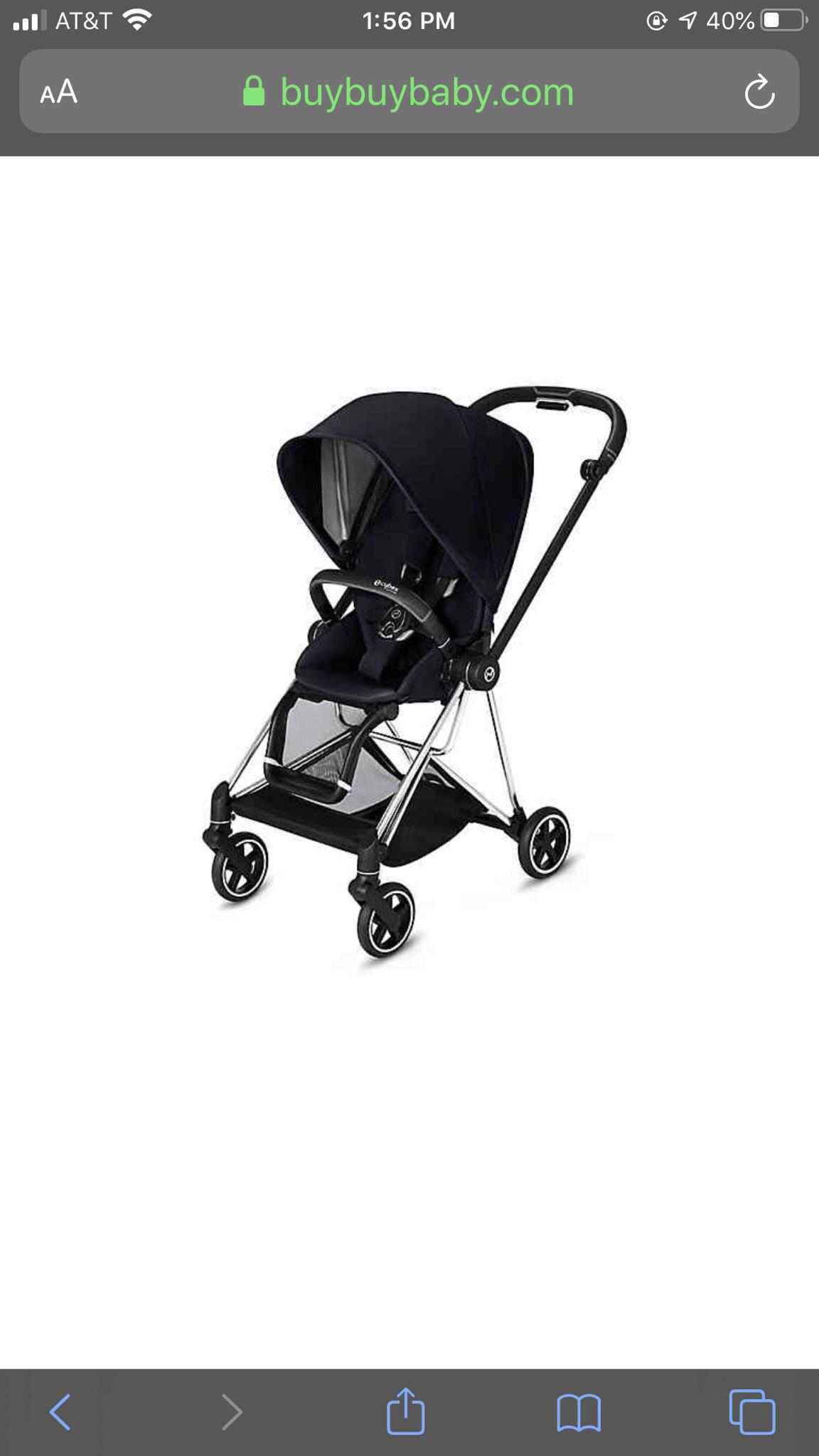 Cybex Platinum Mios Stroller And Accessories Silver