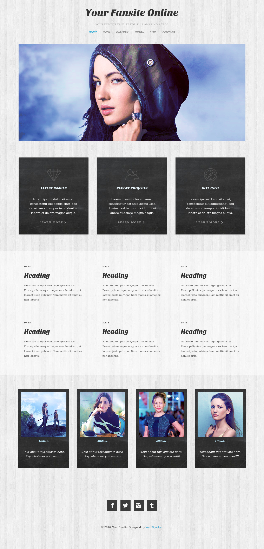 Html Css Fansite Template Webdesign Web Design Website Layout Web Design Project Site