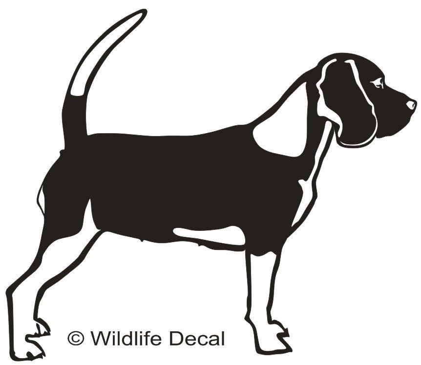 Beagle Md1 Rabbit Deer Dog Decals Window Stickers Window