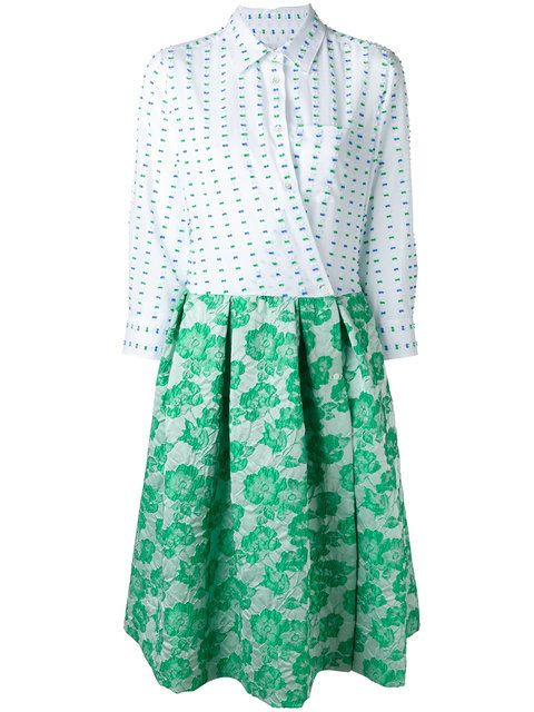 6ba11525b557 Shop Sara Roka contrast wrap dress. | Fashion | White wrap dress ...
