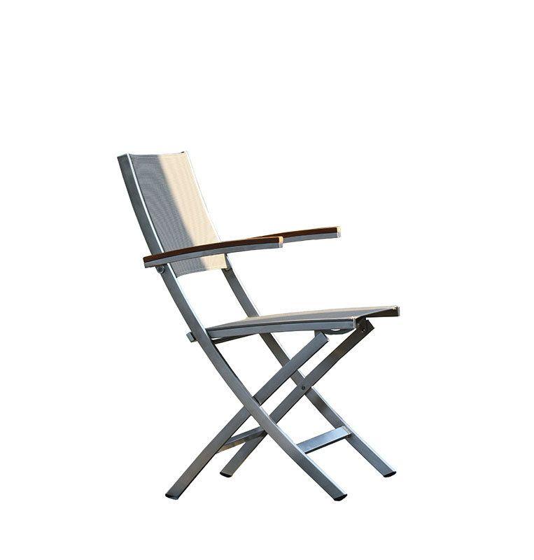 Jan Kurtz Klappstuhl Lux Balcony Weiss Outdoor Products