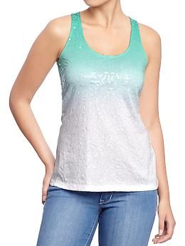 35ea50675757 Women s Ombre Sequined Tanks at Old Navy.