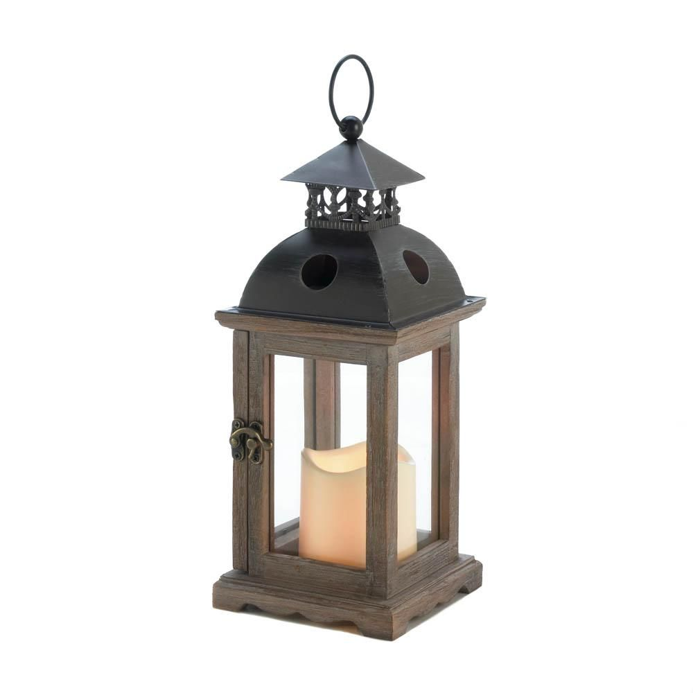 Iron Small Monticello Candle Holder Lantern With Led Candle Candle Lanterns Wooden Lanterns Lantern Candle Holders