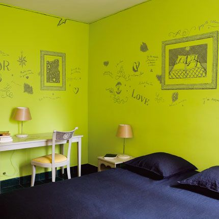 Deco Chambre Vert Anis1 Deco Chambre Vert Anis Avec Images