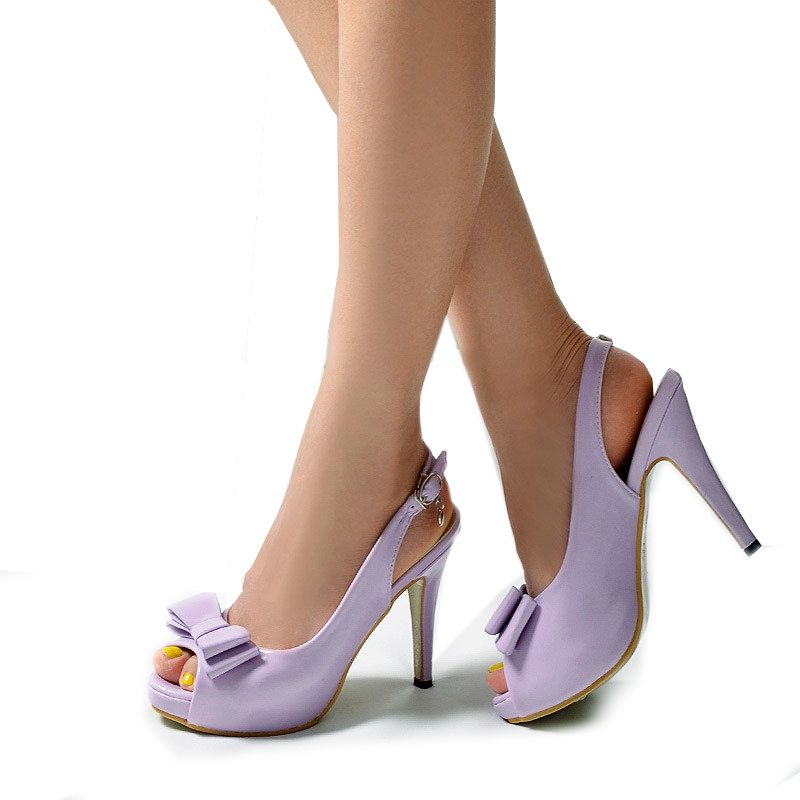 free-shipping-2015-new-peep-toe-bowtie-PU-leather-light-purple ...
