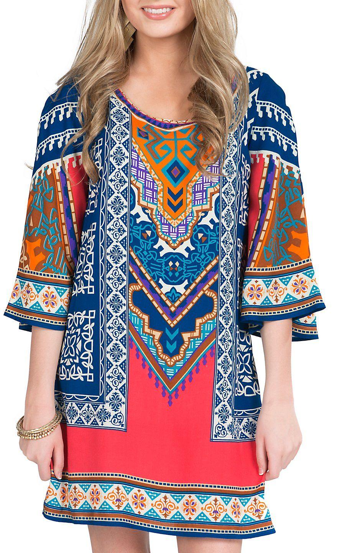 de43da5b1a5 Flying Tomato Women's Multicolored Tribal Tunic Dress. Would be so cute  with tan cowboy boots