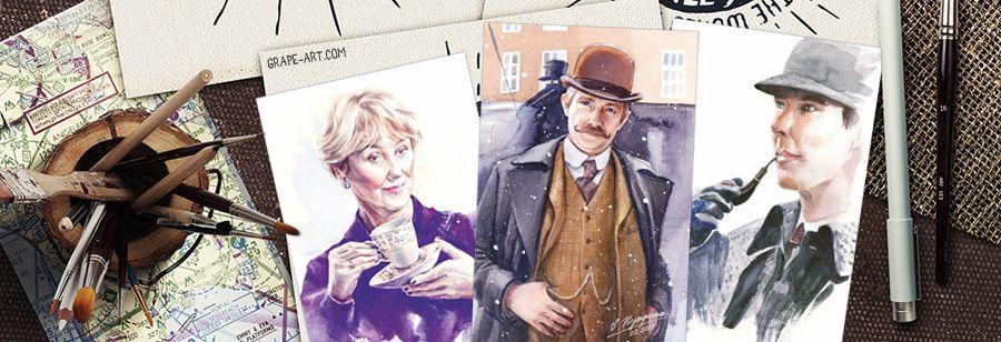 Днем, почтовые открытки шерлок холмс