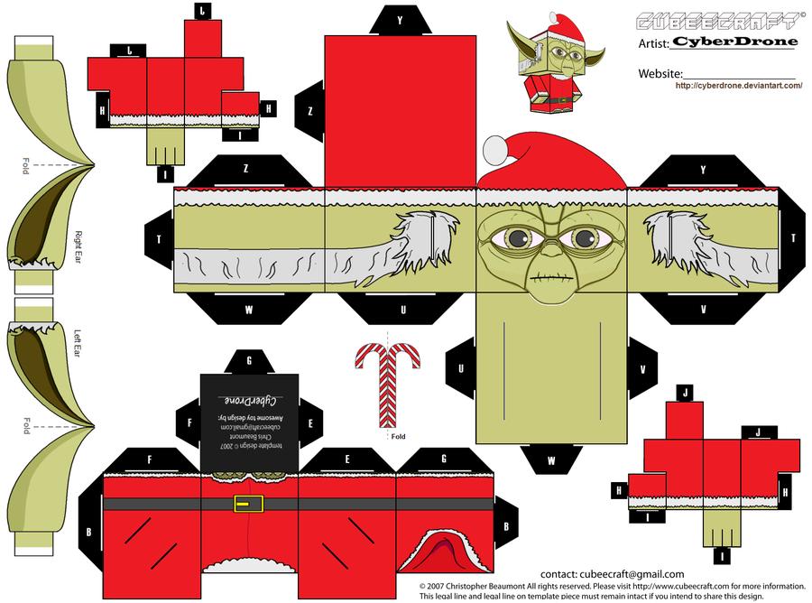 Yoda Santa Cubeecraft