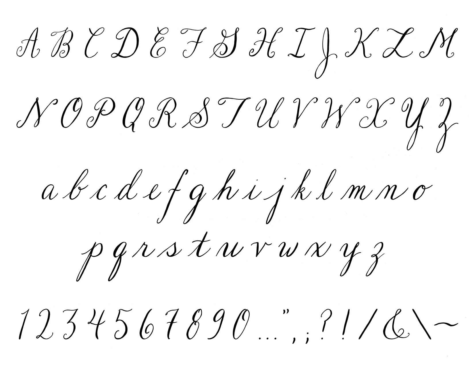 Handwriting Fonts Alphabet
