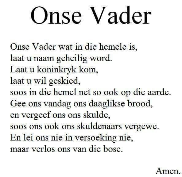Onse Vader With Images Good Thoughts Words Feelings And Emotions