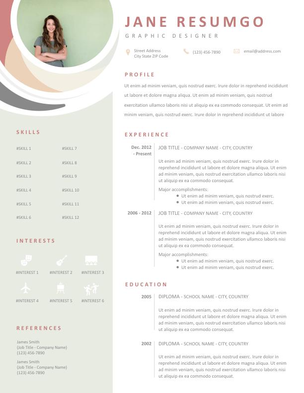 Ales Elegant Pastel Resume Template Resumgo Com Resume Design Creative Graphic Design Resume Web Designer Resume