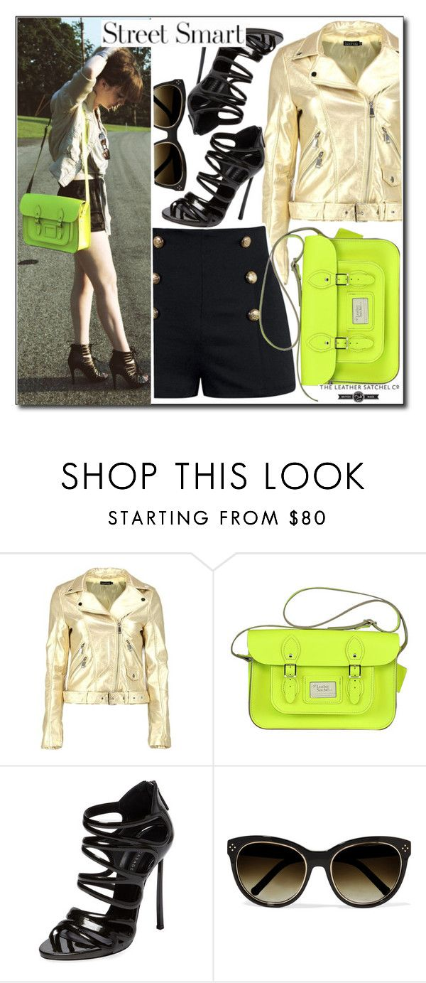 """Street style"" by leathersatchel ❤ liked on Polyvore featuring Boohoo, Casadei and Chloé"