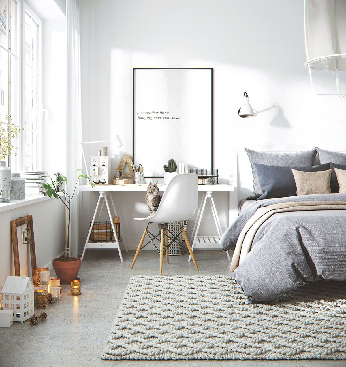 Proiect 3d De Amenajare In Stil Nordic Jurnal De Design Interior Scandinavian Design Bedroom Bedroom Interior Home Bedroom