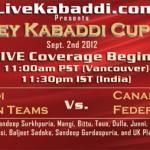 LIVE coverage of Surrey Kabaddi Cup Sept.2nd 2012